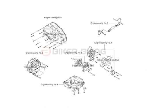 Honda VFR800F RC79 2014-2015 stainless steel engine casing