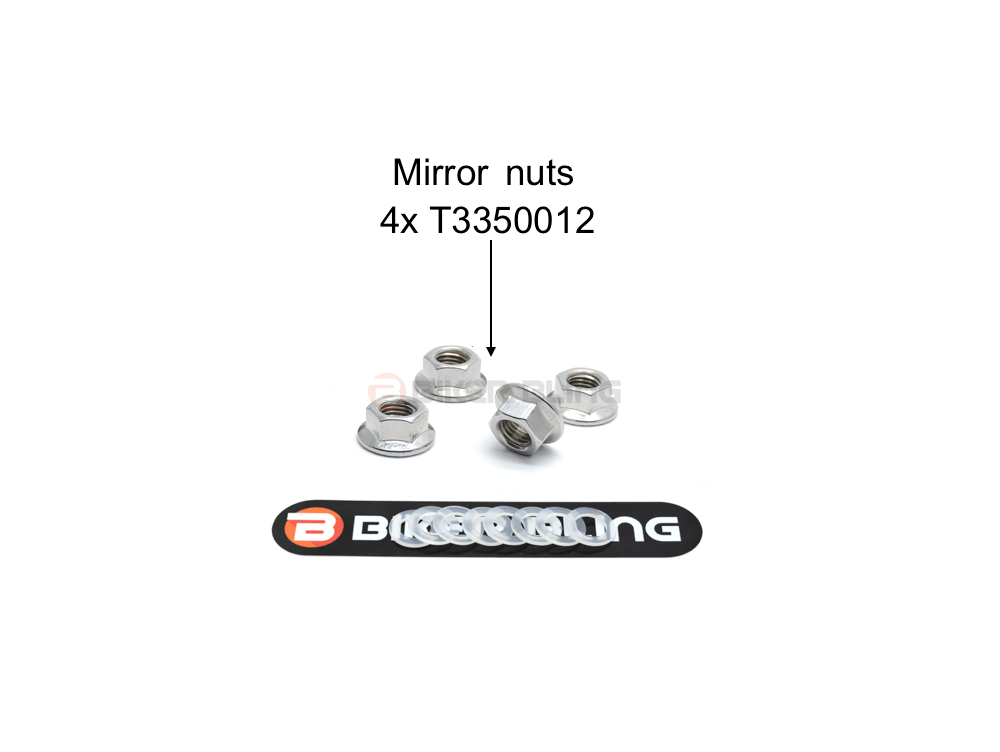 Triumph Daytona 600 2002-2004 mirror nuts stainless steel