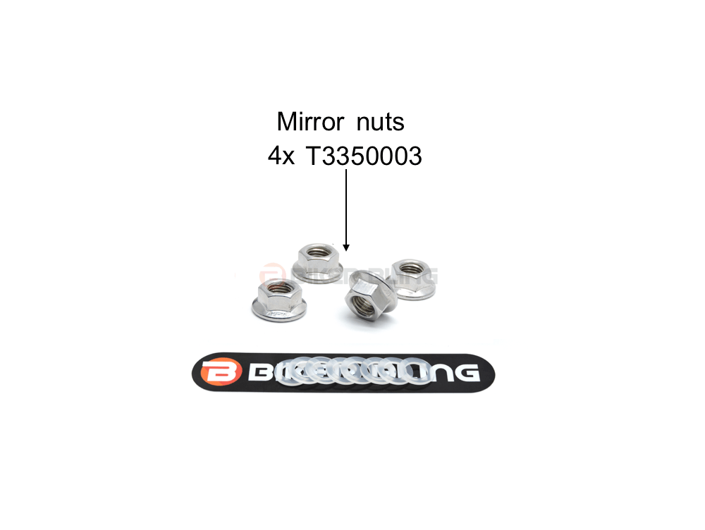 Triumph Daytona 675R 2011-2012 mirror nuts stainless steel