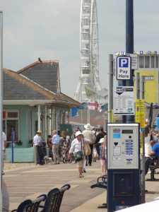 Parking is free for Motorcycles along the Southsea Seafront