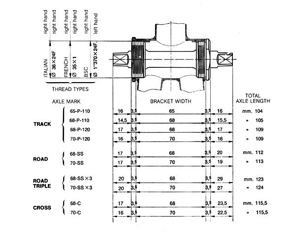 Bicycle Crank Parts Diagram