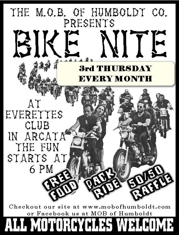 M.O.B. BIKE NITE - 3rd Thursdays