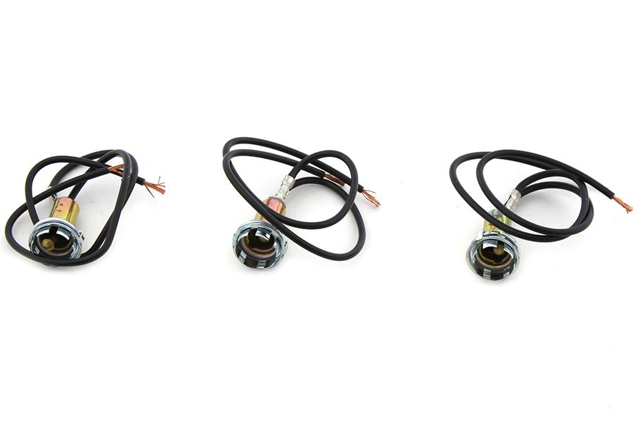 1939-1995 Harley Big Twin Indicator Lamp Sockets 2 Wire Steel