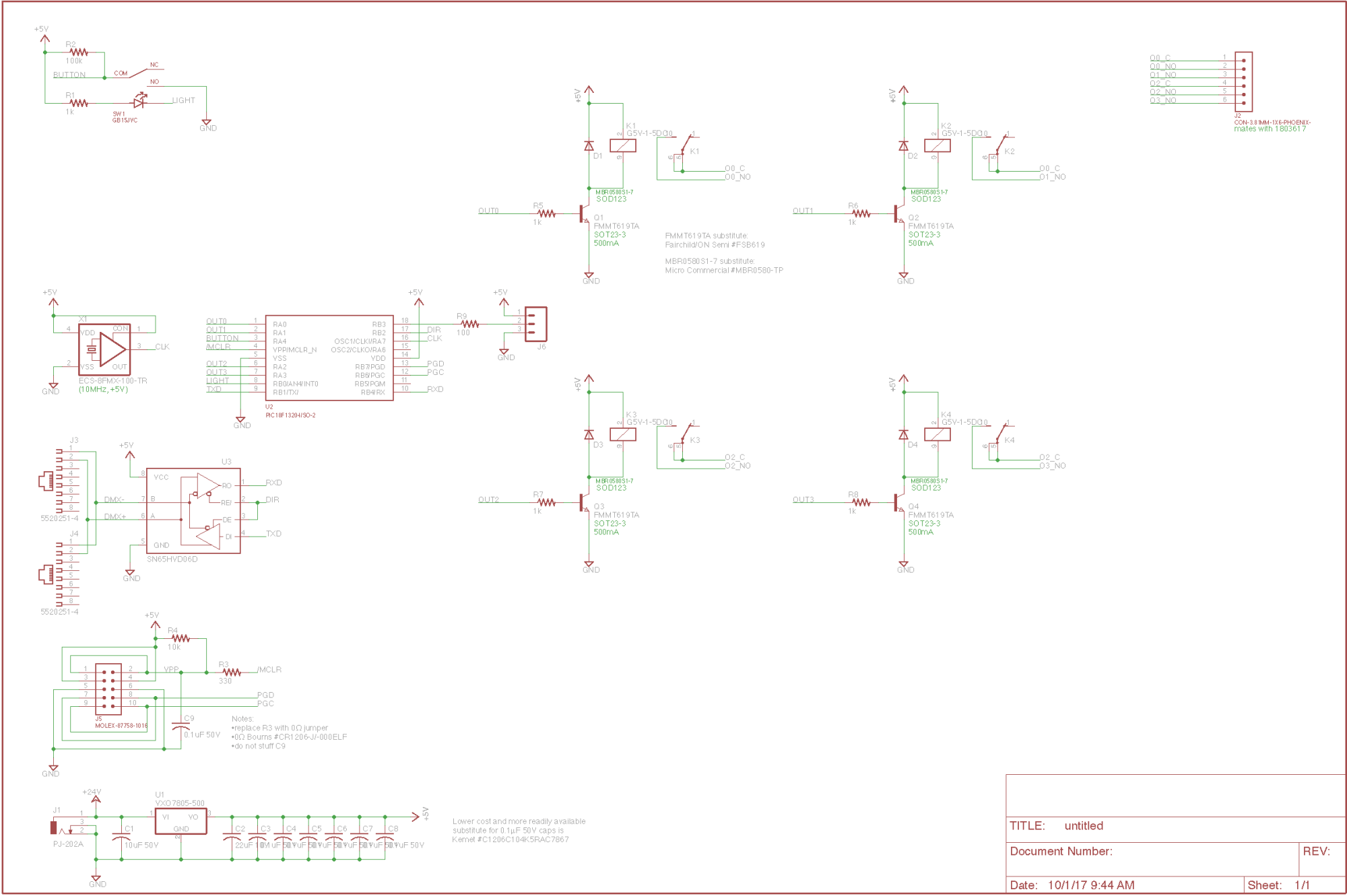 hight resolution of dmx relay board schematic