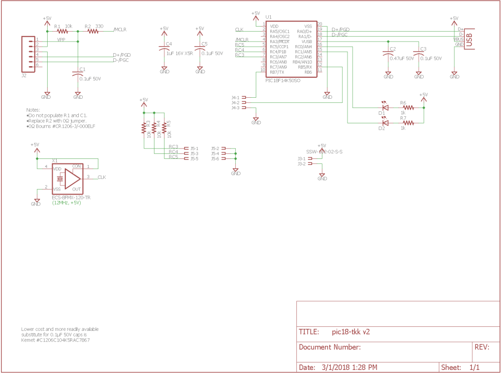 medium resolution of schematic for the giant three key keyboard usb interface