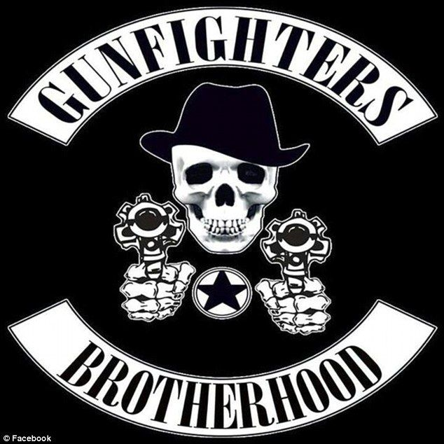The Gunfighters patch features a skull which represents 'undying respect for officers' and two pistols which represent an officer's 'tools of the trade'