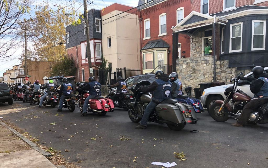 The Pagan Motorcycle Club gathered Saturday afternoon in Wilmington to remember Derek Hale, who was shot and killed by a Wilmington police officer 13 years ago.