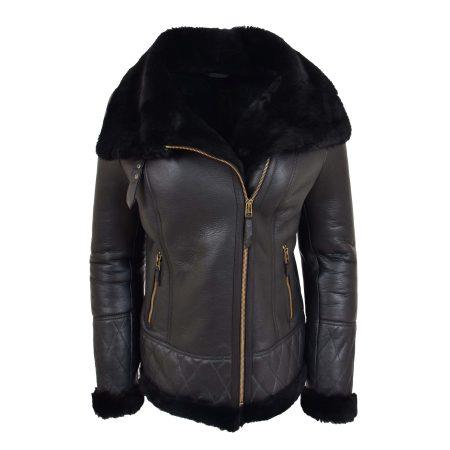 Women's Merino Sheepskin Aviator Jacket