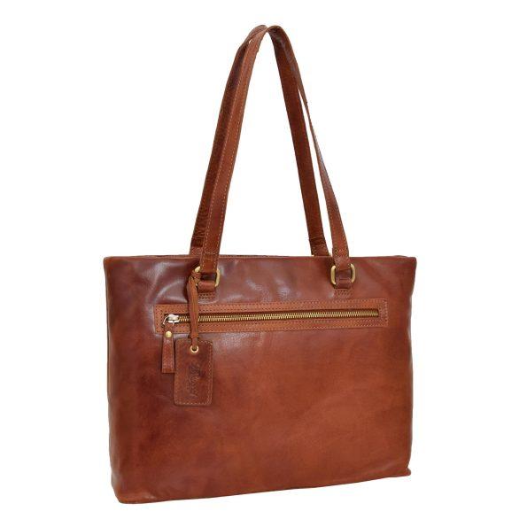 Womens Leather Classic Shopper Bag Lima Tan