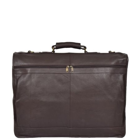 Travel Weekend Leather Suit Carrier Canico Brown