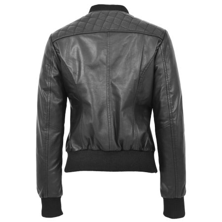 Women's Quilted Varsity Bomber Jacket
