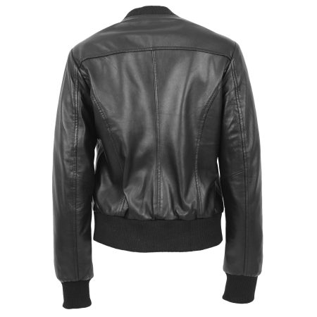 Women's Varsity Bomber Jacket Black