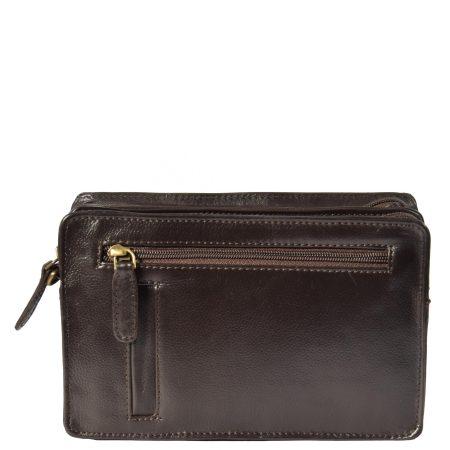 Leather Wrist Clutch Bag Ralf Brown