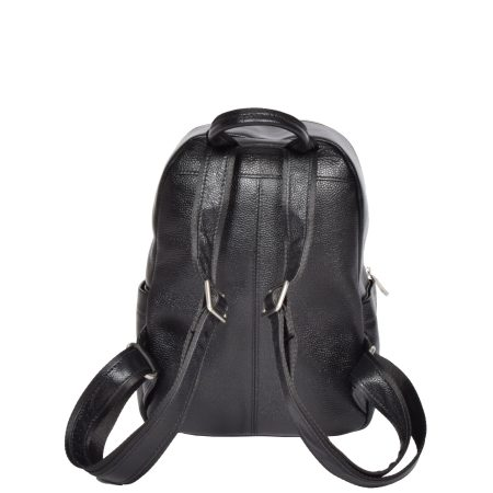 Small Size Leather Classic Backpack Black