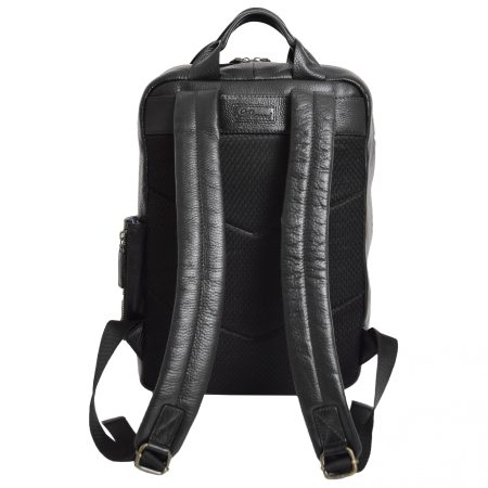 Real Leather Travel Backpack Ray Black