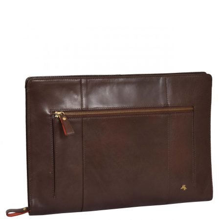 Leather A4 Documents Case Cruise Brown