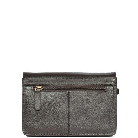 Lockable Leather Wrist Bag HOL584 Brown