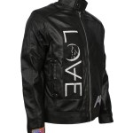 Angel and Airwaves Tom Delonge Embroidered Black Faux Leather Jacket