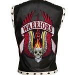 Men The Warriors Movie Black Biker Faux Leather Vest