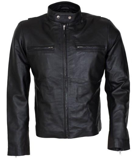 Bradley Cooper Black Biker Leather Jacket