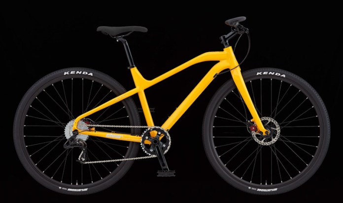 Clear Bicycle Company, the One commuter bike, Yellow, side