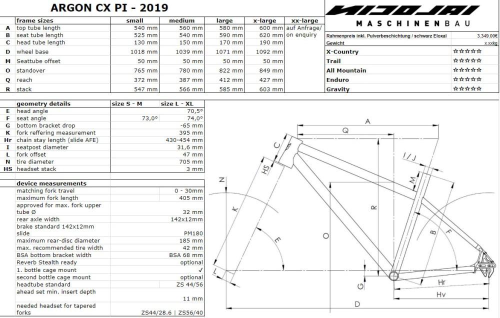 medium resolution of nicolai argon cx pinion bike geometry sizing chart jpg
