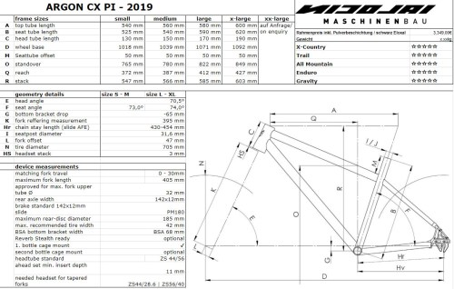 small resolution of nicolai argon cx pinion bike geometry sizing chart jpg