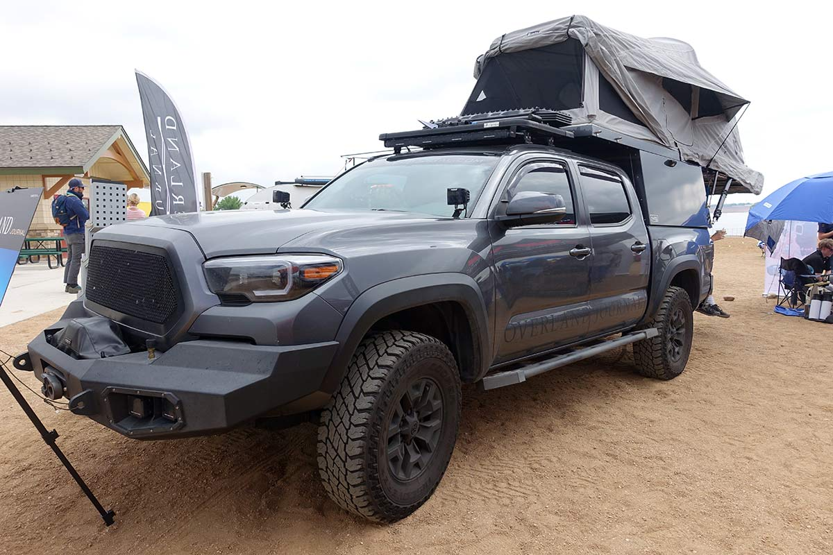 hight resolution of expedition portal overland toyota tacoma truck with offroad gear from outdoor retailer show summer 2019