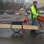 Four two-by-sixes are no problem for the Xtracycle Cargo Van rack.