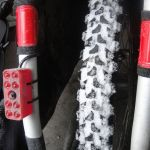 studded snow tires are de rigueur