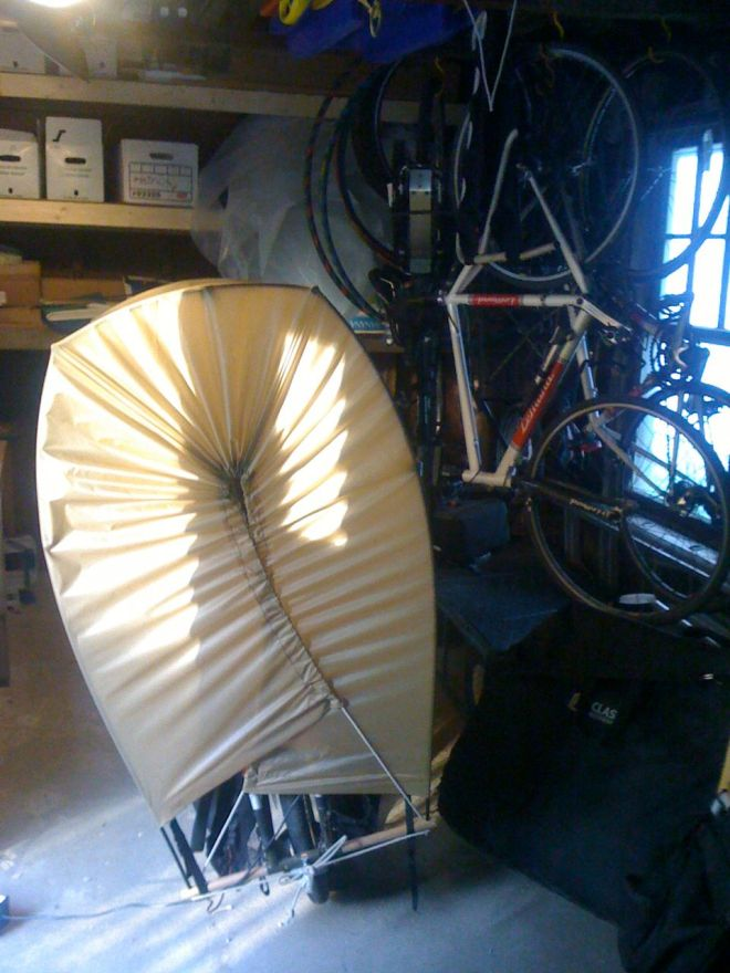 The basically finished canopy rear view.