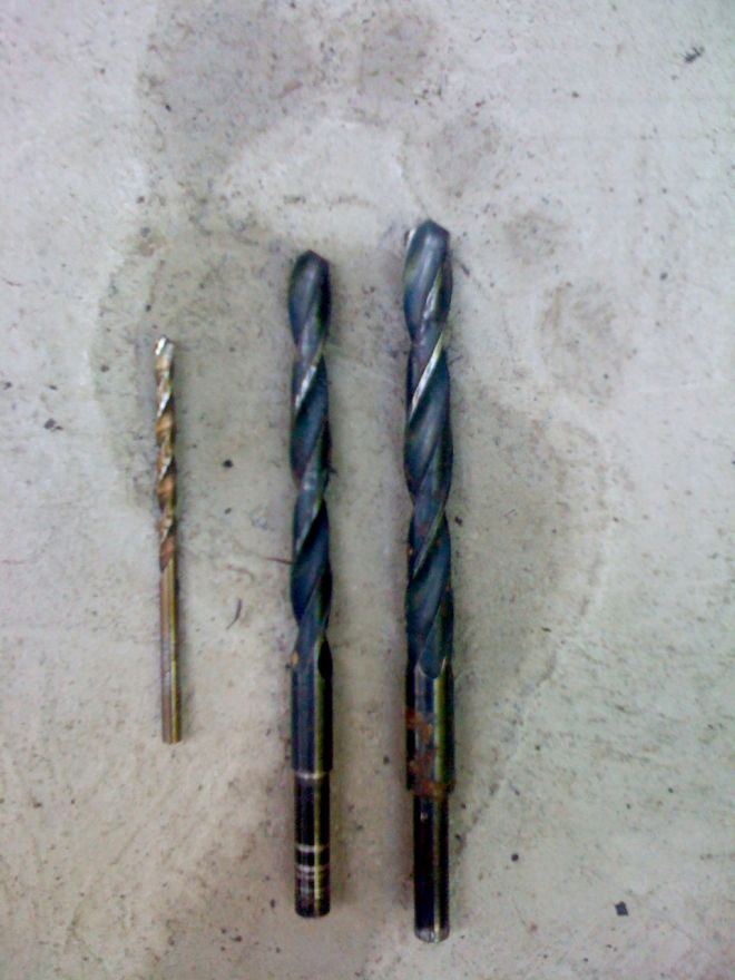 9/64, 19/64 and 11/32 drill bits