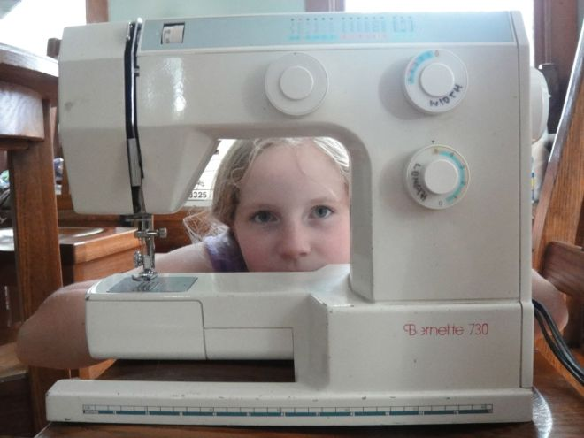 sewing machine (optional)