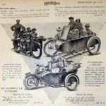 """As you can see in the 1920 article pictured above entitled The Family Sidecar, a motorcycle combination could transport as many passengers as a small saloon car."" Photo from http://oldbike.eu."
