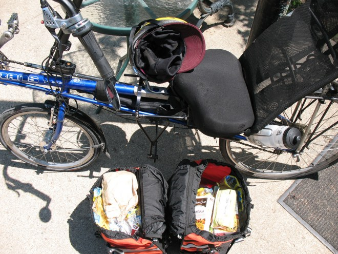 Another grocery trip by bike