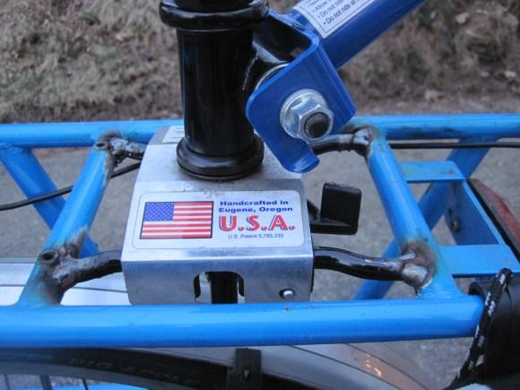 Close-up of the Burley Piccolo / Yuba Mundo weld