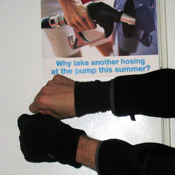 DIY sleeve extender for winter bike commuting