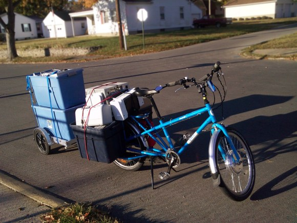 Hauling a large load of e-waste on the Yuba Mundo