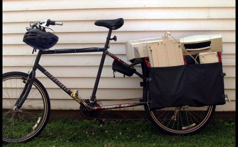 longtail bike at work