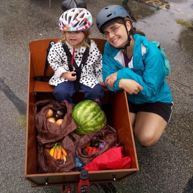 rainy day farmer's market trip