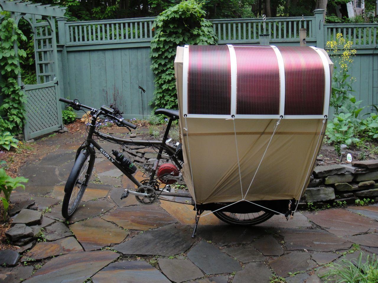 Solar-powered bike wagon. & Cycle Gear - Bikes As Transportation