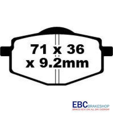 EBC Bike Brakes YAMAHA YBR 125 ED (3D91) (2005>2006
