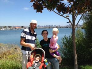 The Anderson Family - all four of the family are BikeSD members and were the first family to sign up as such