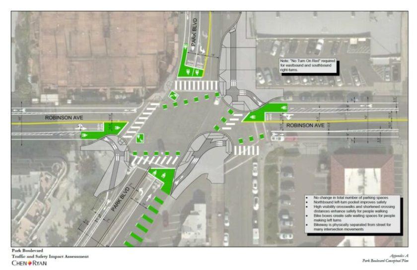 Park Boulevard and Robinson Av intersection design 2018