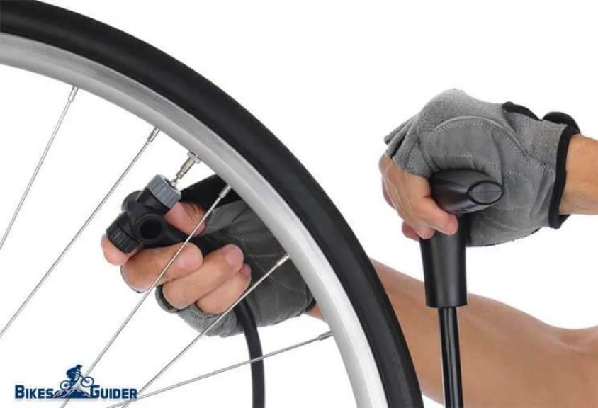 Pump Bicycle Tire Through Presta Valve