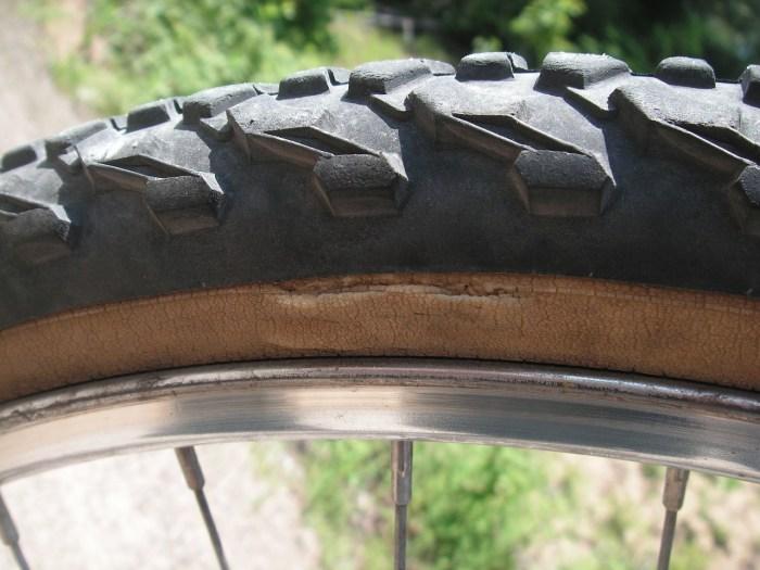 rim case of a bike visibale