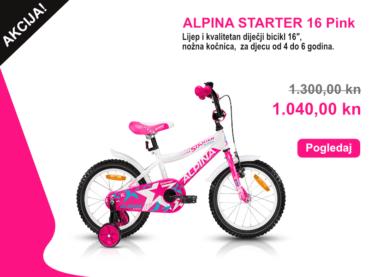 ALPINA STARTER 16 Pink Akcija