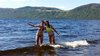 A quick dip in Loch Ness...