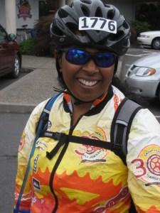 Angela Brown of Spokane rode Seattle to Portland in 2009