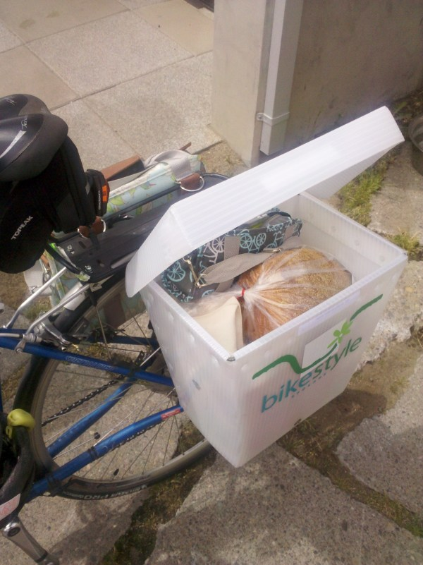 Hauling a load on a bike is easy with the Donkey Boxx.